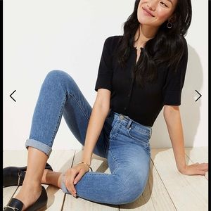 LOFT Soft Slim Pockets Cropped Skinny Jeans